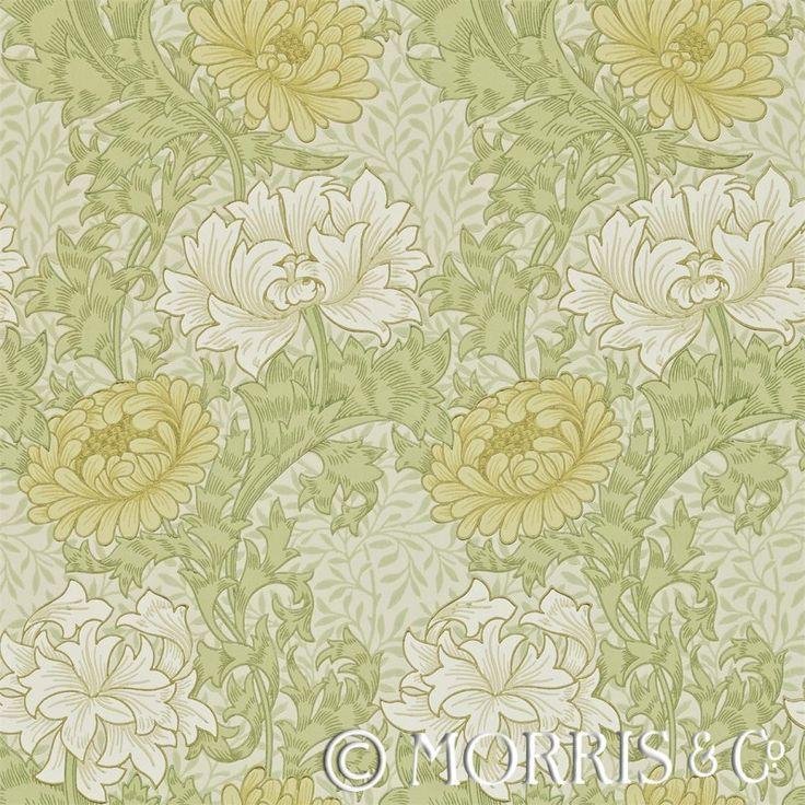Morris & Co Tapet Chrysanthemum Pale Olive