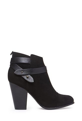 Wrapped Faux Suede Booties   FOREVER21 - 2000056654 - http://AmericasMall.com/categories/juniors-teens.html