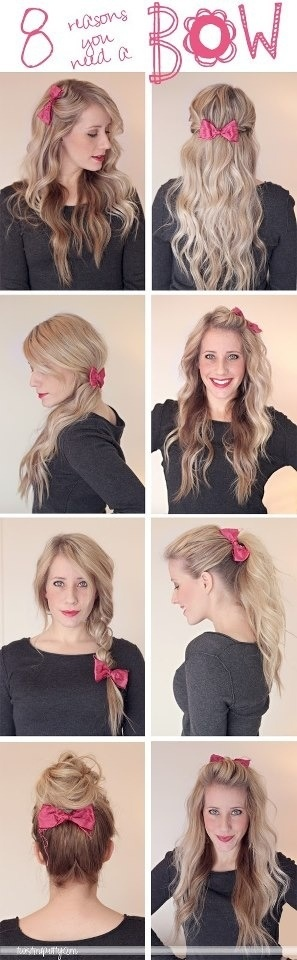 Awesome bow hairstyles