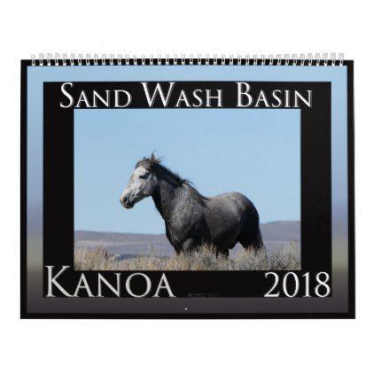 Stallions of Sand Wash Basin Calendar - family gifts love personalize gift ideas diy
