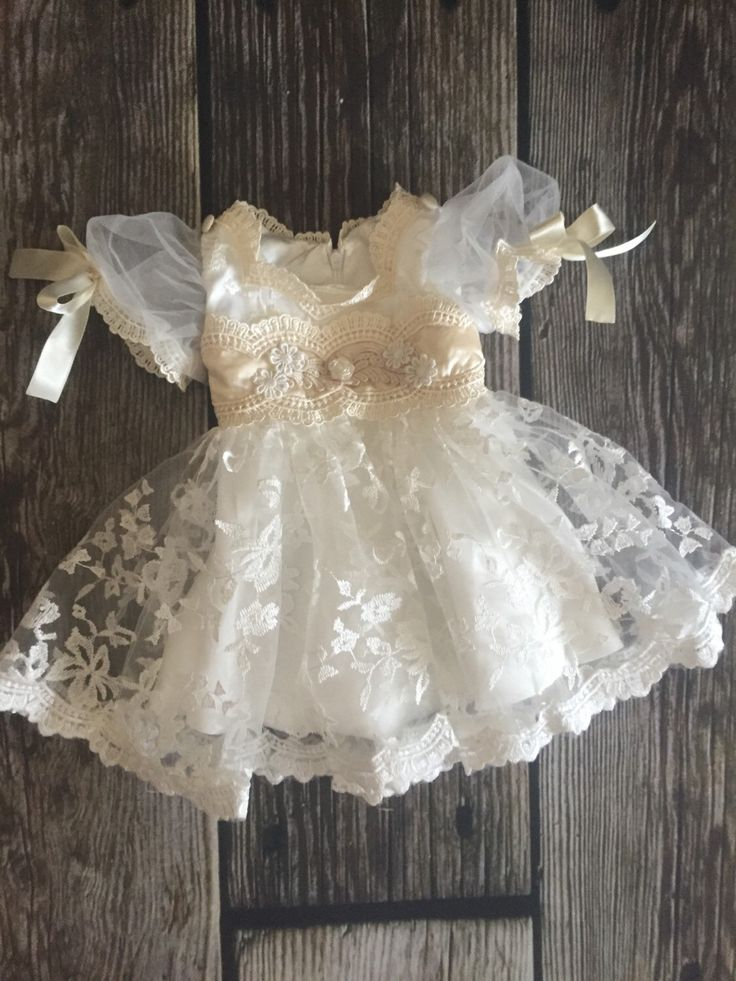 Grace-Newborn baby girl christening gown dress-baptism-vintage-lace-dresses-pearl-baby clothing-shabby chic-cream-beige-ivory-easter by MissBYOB on Etsy https://www.etsy.com/listing/270948187/grace-newborn-baby-girl-christening-gown