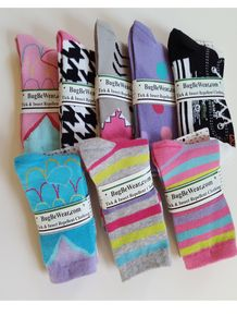 Girls Tick and Insect Repellent Fashion Socks - Medium Selection