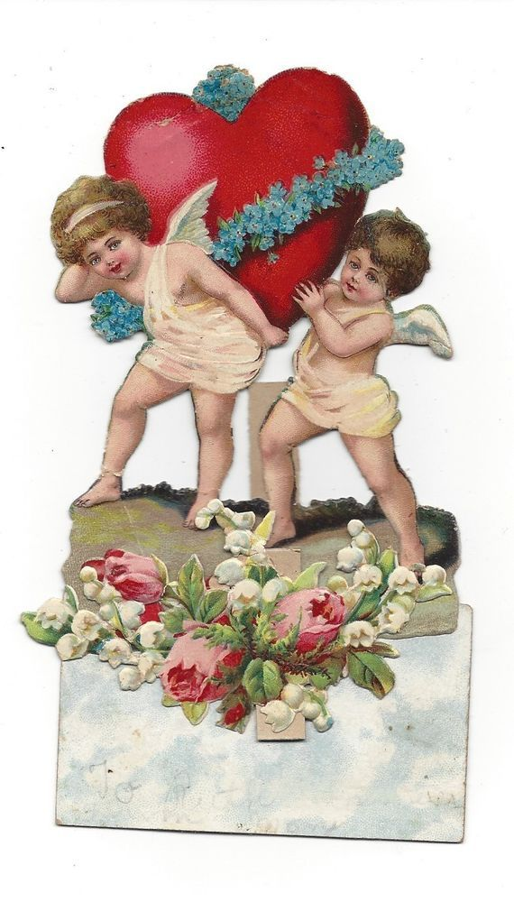 Victorian Die Cut Scrap Valentine Greeting