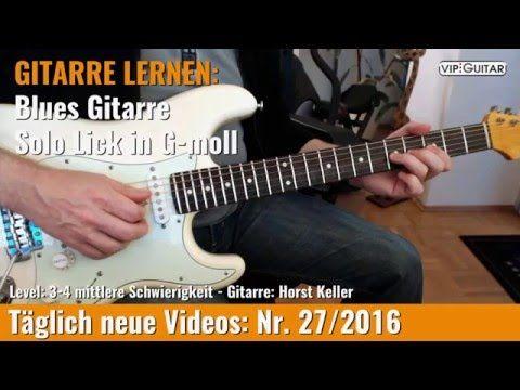 GITARRE LERNEN: Blues Gitarre - Solo Lick in G-moll