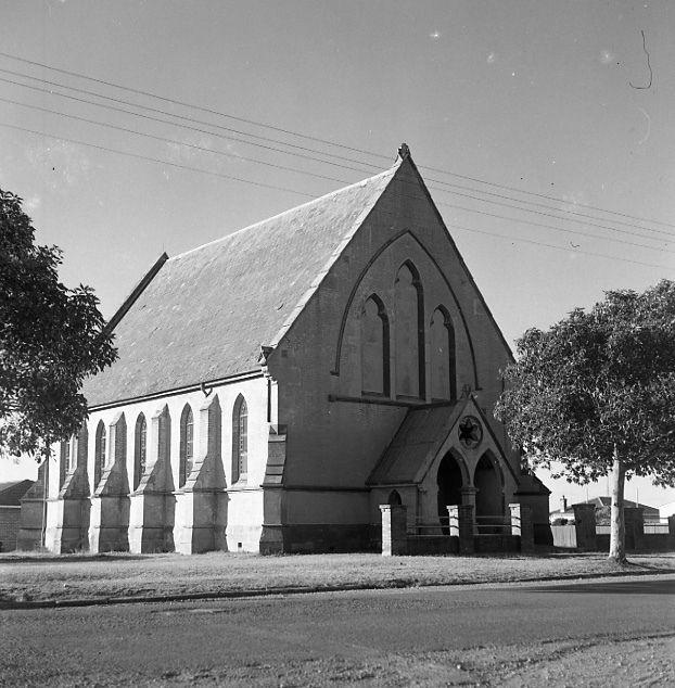 Methodist Church, Morpeth, NSW, Australia, before demolition, July, 1970, where William Arnott married Margaret Fleming in 1865.