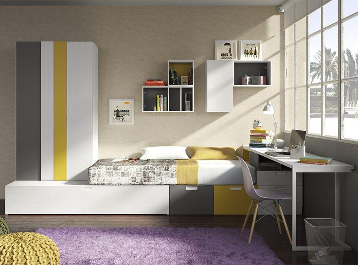 Dormitorio FLICK 3 - Habitaciones Juveniles | Muebles La Fábrica