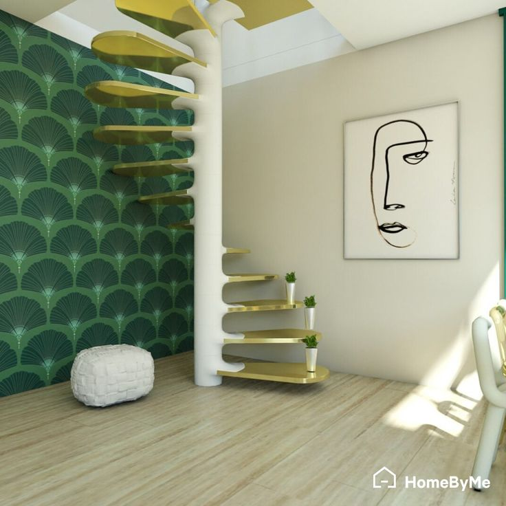 Home Design 3d Gold: Gold & White Stairs In 2020