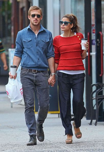 Ryan Gosling And Eva Mendes Holding Hands After Lunch