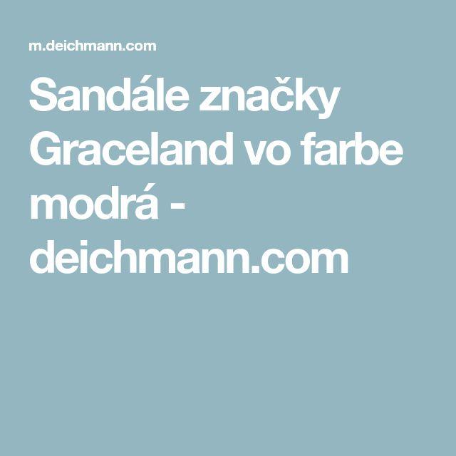 Sandále značky Graceland vo farbe modrá - deichmann.com