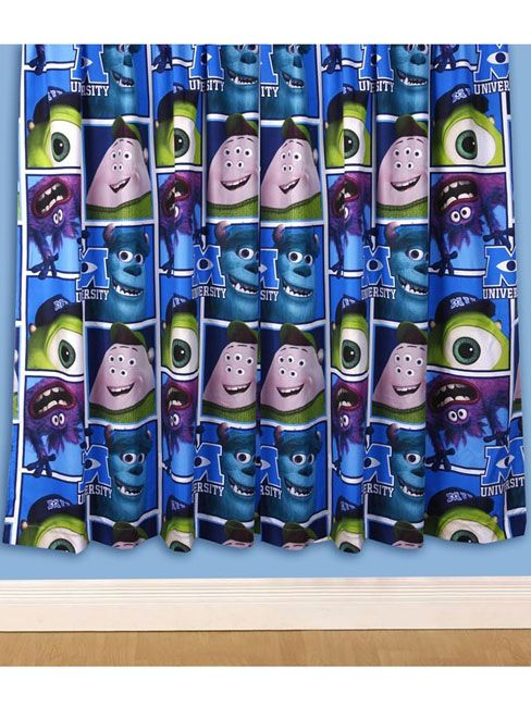 Monsters University Curtains - 100% Official Disney merchandise Microfibre ready made curtains Available in 72 and 54 Inch Lengths!