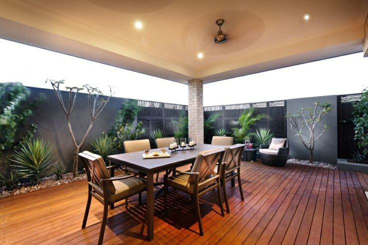 Classy Small Alfresco Area Love The Screening For The