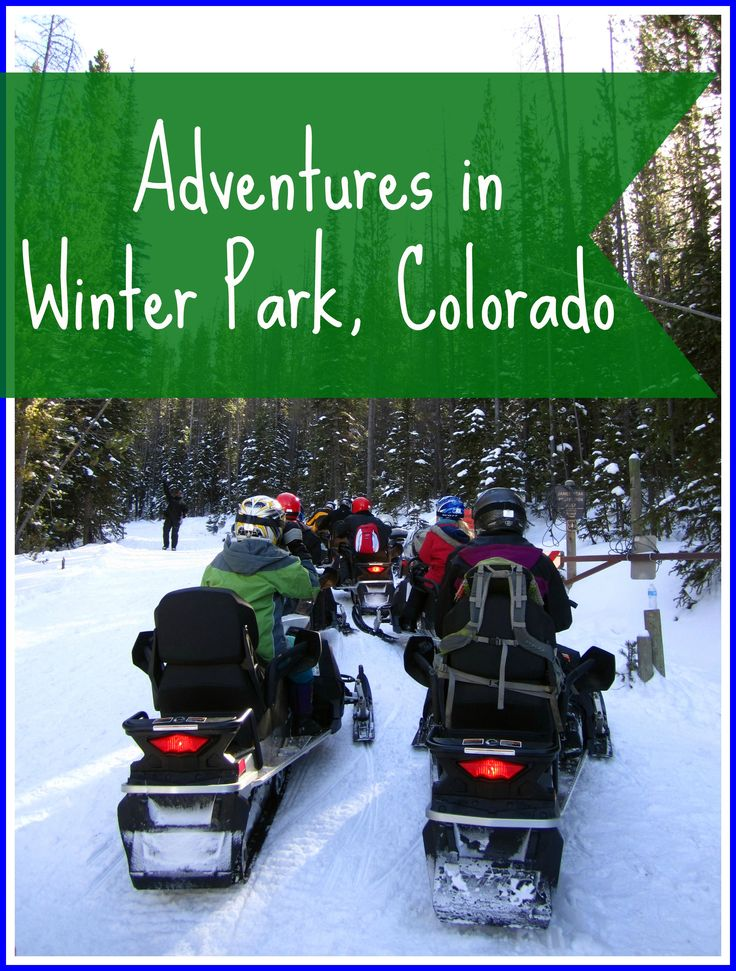 Adventures in Winter Park, Colorado: snowmobiling to top of the Continental Divide - was told don't get off trail - took two steps tooo far - sunk to my arm pits in powder!  lol