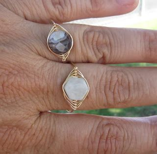 handmade wire wrap rings