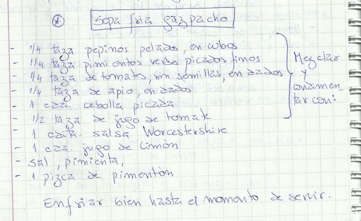 SOPA FRIA GAZPACHO   #SALADO #ENTRADAS #SOPA #VERDURAS