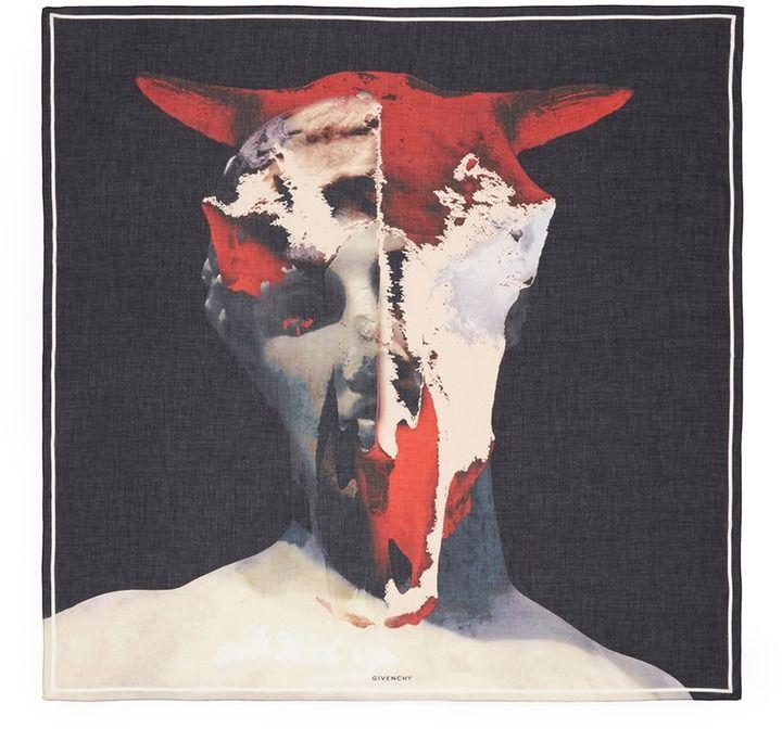 GIVENCHY Minotaur print cotton-modal scarf