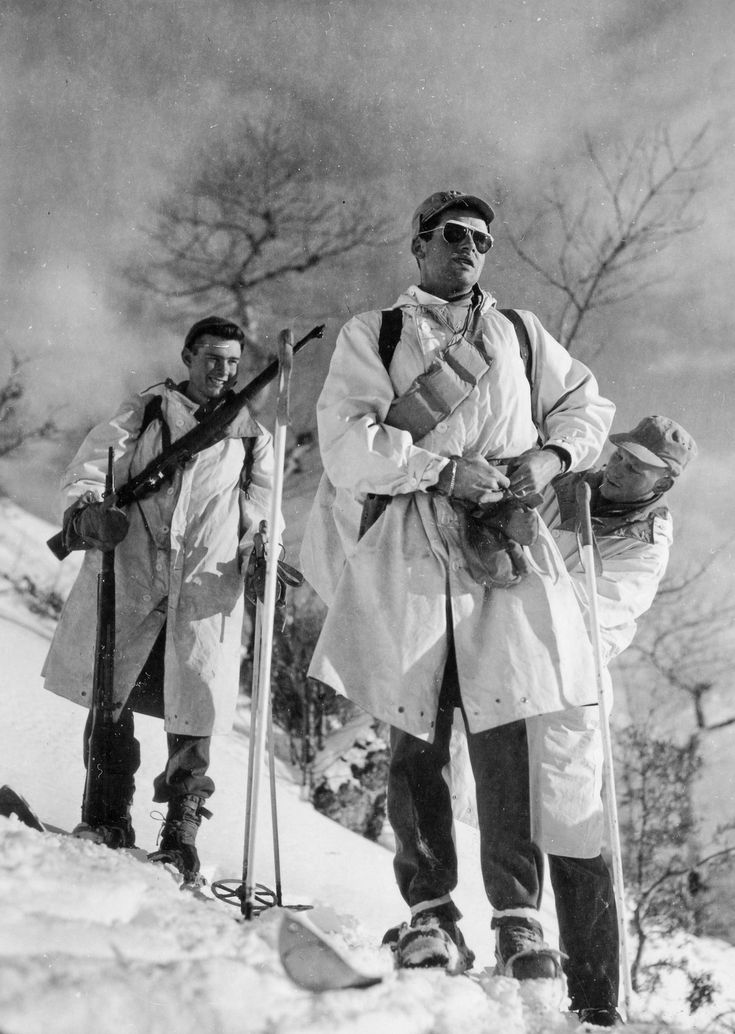 U.S. 10th Mountain Division patrol on the Apennini mountains (  see Gothic Line).  Italy,1945.