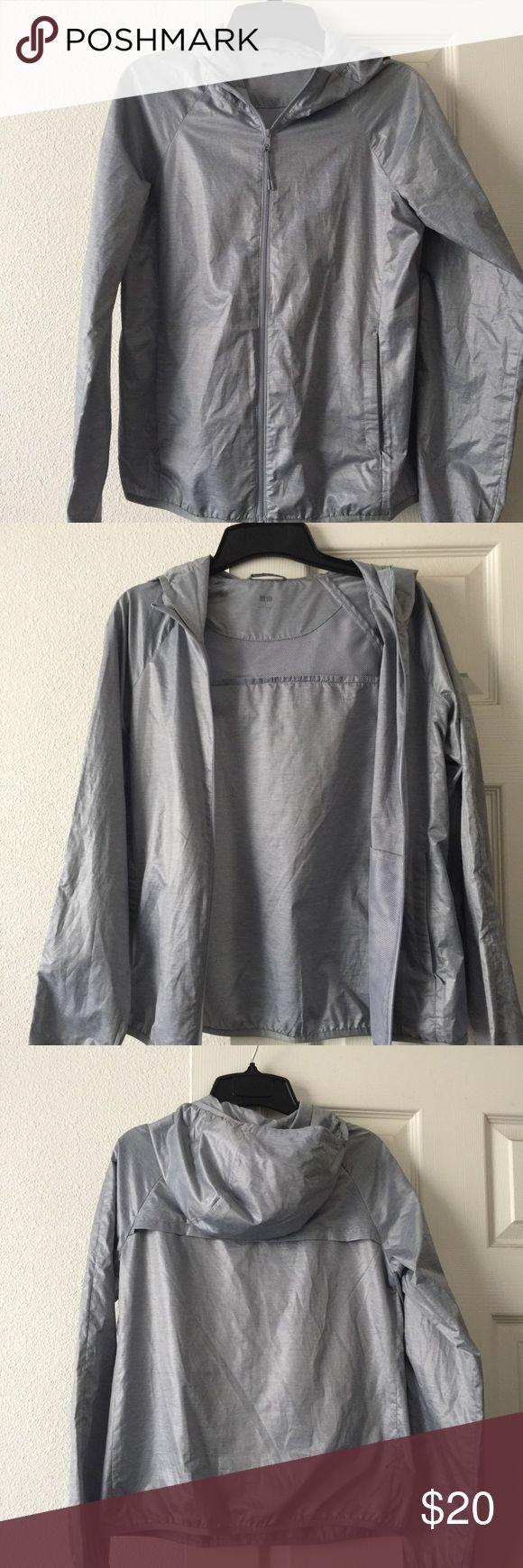 Uniqlo wind breaker jacket Wind breaker shell from Uniqlo. Silver/purple color. No flaws. Uniqlo Jackets & Coats