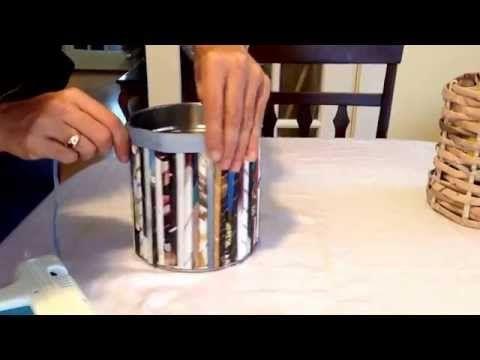 DIY PORTA BROCHAS O CUCHARAS (RECICLANDO LATAS) - YouTube