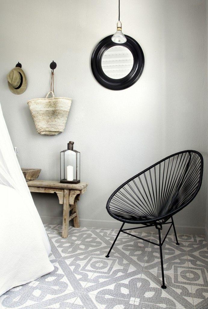 San Giorgio Hotel in Mykonos - bench, hooks, chair, candleholder. all lovely