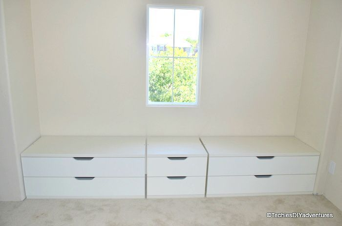 Window Seat With Storage  - Another Ikea Hack Using Stolmen Drawer
