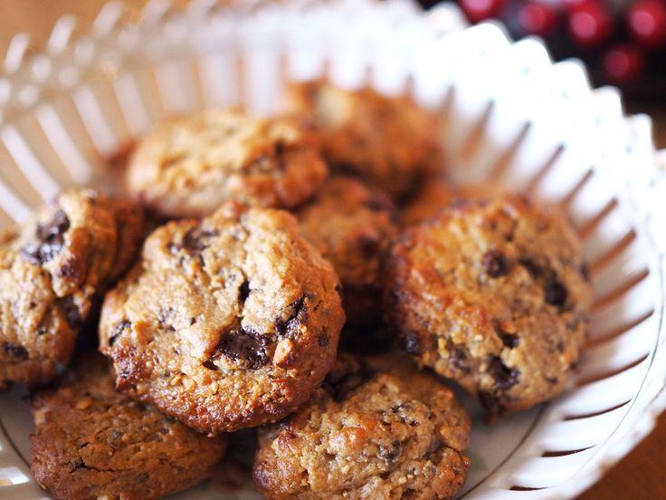 PEANUT BUTTER CHOCOLATE CHIP COOKIES RECIPE (glutenfri, vegan, mjölkfri)