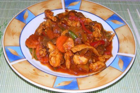 Wspaniała chińska potrawa - Kurczak Seczuan