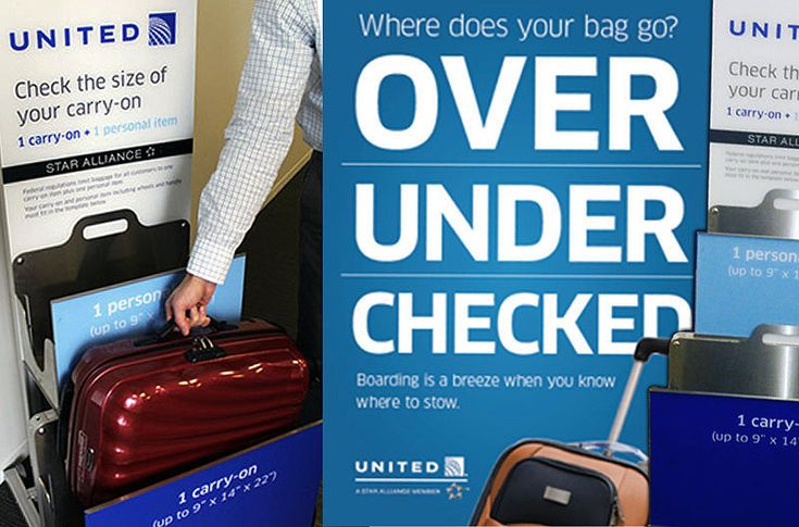 United Airline's baggage allowances are the same whether you're traveling on a domestic or international flight.