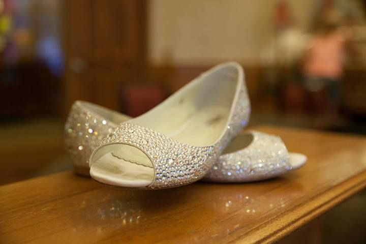 """the Benjamin Adams """"Halle"""" shoe, a sparkling flat wedding shoe $299 available at www.LeftBankJewelry.com Free clutch with purchase too!"""