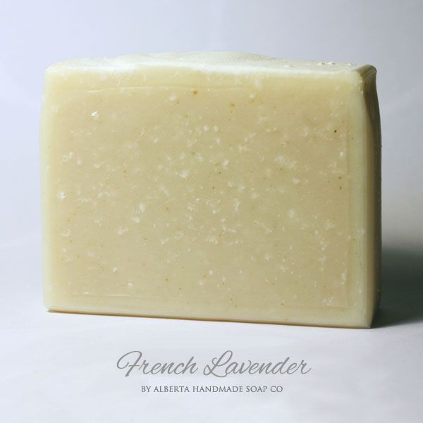 French Lavender #HandmadeSoap For the Lavender lover! Made with pure French Lavender Essential Oil. #SkinCare #AlbertaHandmadeSoapCo $6.99