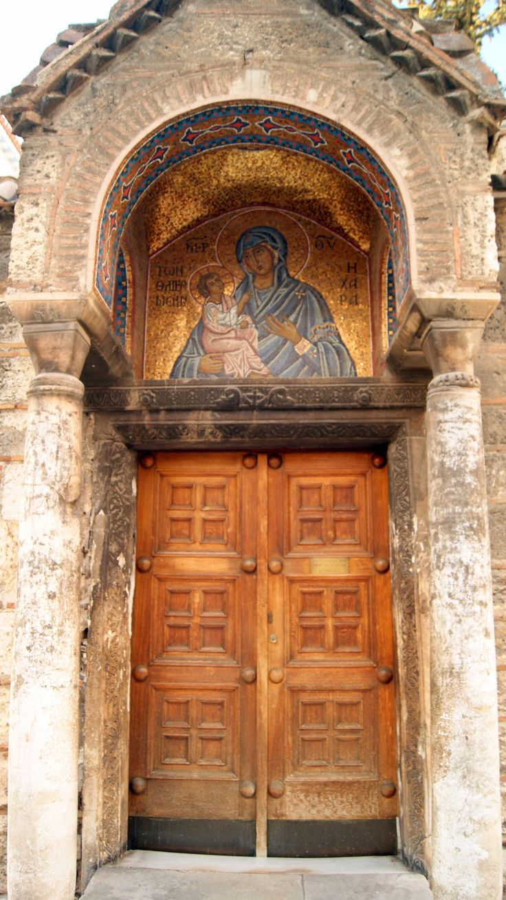 Athens, Greece - Door to Church in the Old City