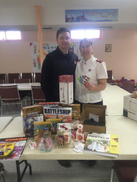 Dawson Creek Salvation Army Hawkair Staff donation!