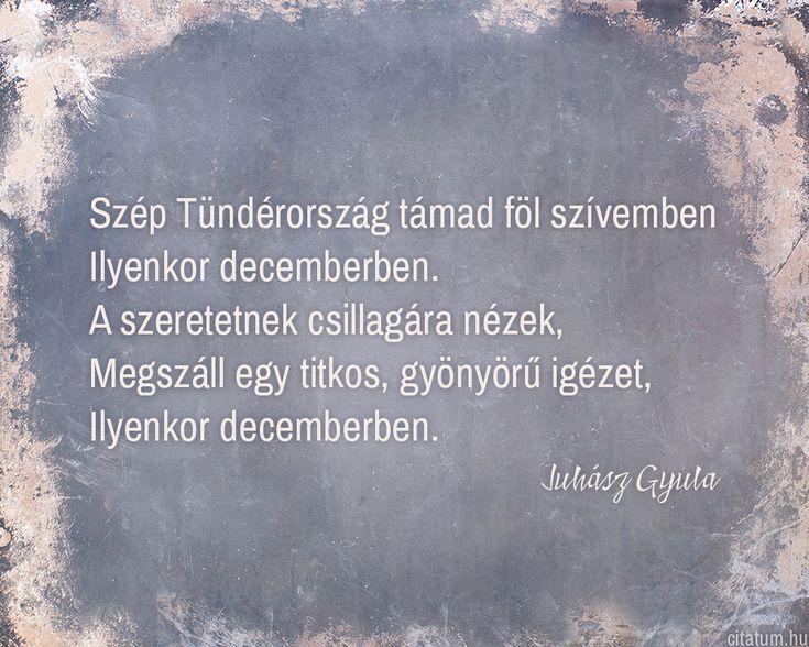 Juhász Gyula idézet decemberről.