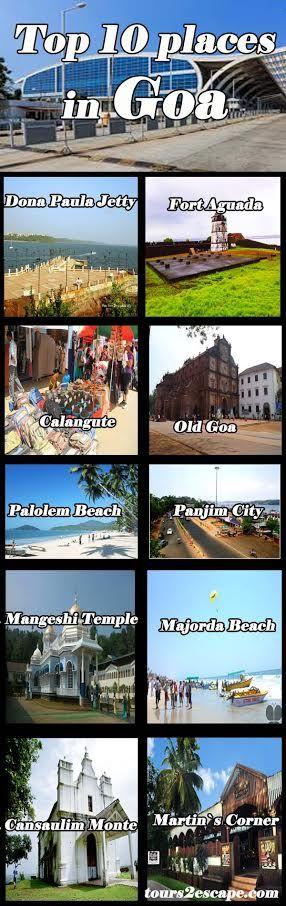 10 Best Places in Goa #goa #beaches http://www.tours2escape.com/10-best-places-in-goa/