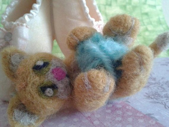 Needle Felted  'Tom Ginger Kitten' by Tinascraftsforyou on Etsy, £18.95