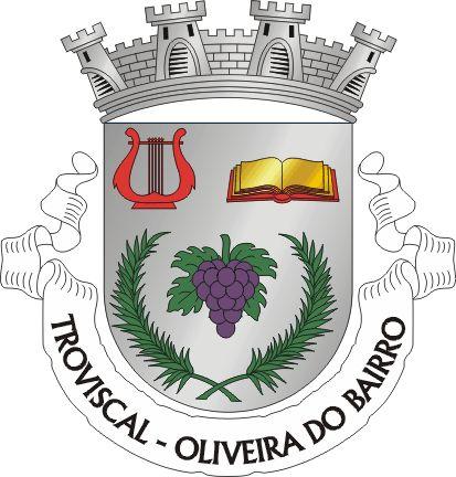 Brasão da freguesia do Troviscal, Oliveira do Bairro, Aveiro, Portugal