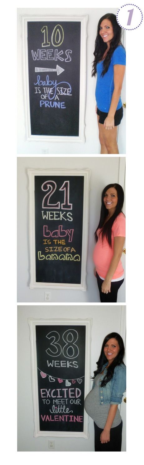 pregnancy countdown with chalkboard