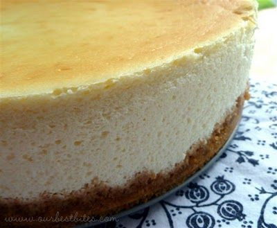 VERY Creamy cheesecake.  This may very well be the recipe I've been looking for since 1970s when I first had cheesecake at Lindie's Deli in Virginia Beach!