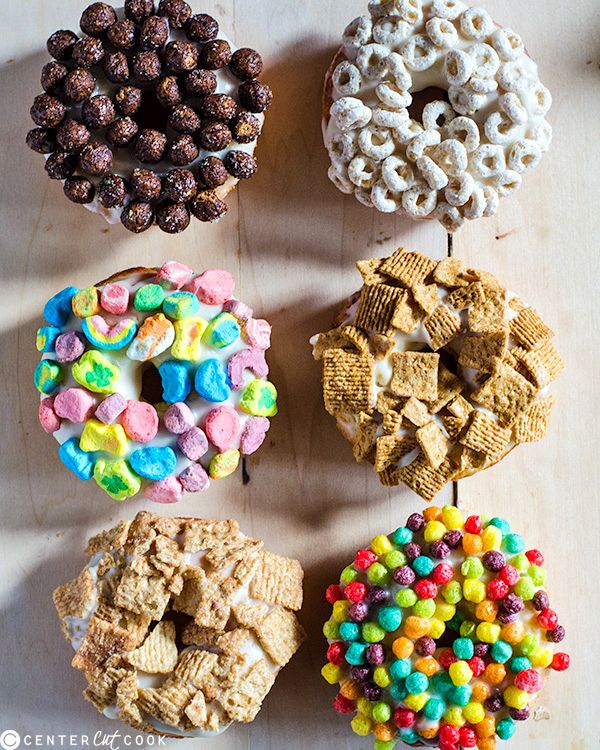 Baked Cereal and Milk Donuts- so much healthier than fried donuts and customizable!