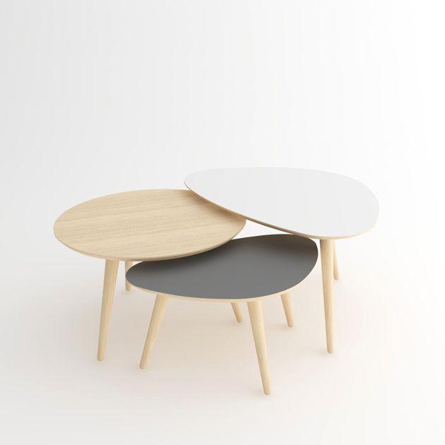 Les 25 meilleures id es de la cat gorie tables gigognes - Table ovale scandinave ...