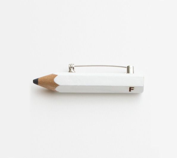 pencil-brooch