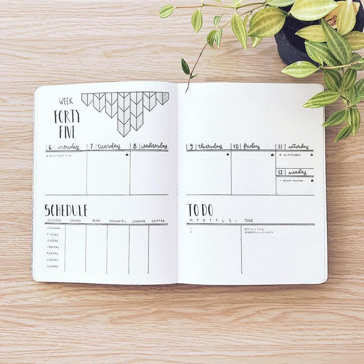 """445 Likes, 8 Comments - Sandra-Olivia (@abulletandsomelines) on Instagram: """"WEEK 45. This is a very similar setup to the previous. I need to fill in my schedule and plan the…"""""""