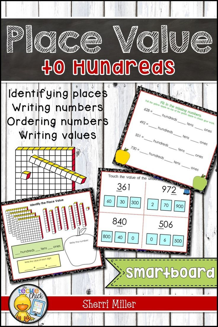 Need a cute place value activity? This school-themed math interactive lesson for the SMARTboard focuses on place value to the hundreds. Students will identify the places, model numbers using place value blocks, identify and write values, use standard and expanded form, and compare and order numbers to the 100s.