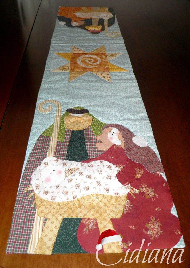 Camino de mesa, table runner Star of Wonder