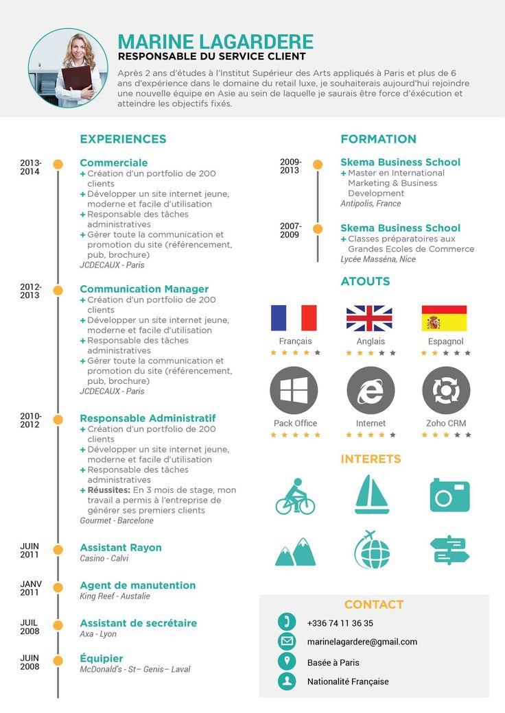 8 best CV images on Pinterest | Resume templates, Resume template ...