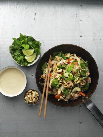 Vietnamesisk kyllingepande med sojacreme