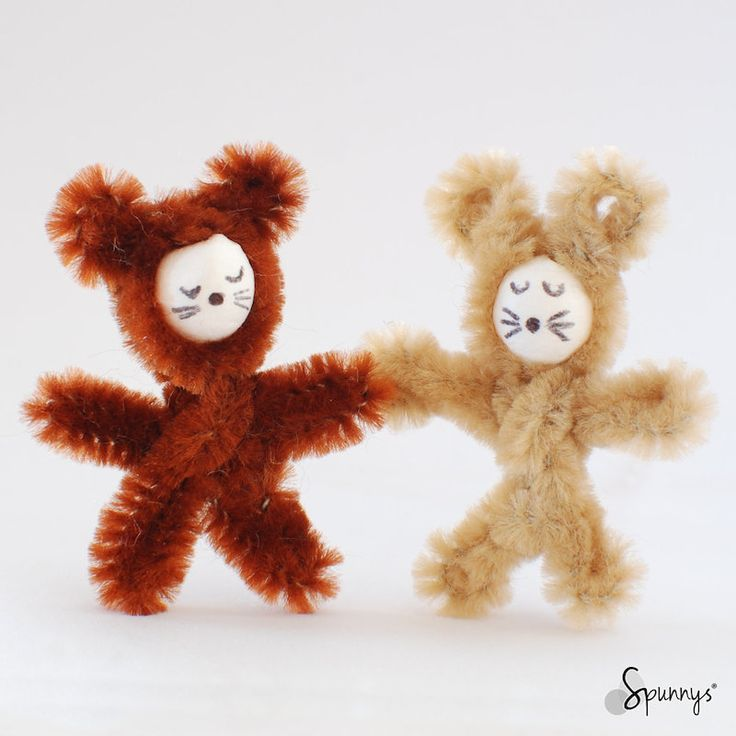 Pipe cleaner animals u2013 instructions (step by step) & 29 best Spun cotton ornaments - Animals images on Pinterest | Spun ...