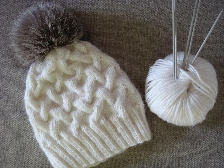 """Very nice and easy to follow pattern of winter cable hat. It is made for adult size but easy to adjust for baby size as well. I have used soft and bulky yarn that contains 35% wool, 40% acrylic, 25% alpaca."""