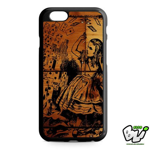 Wooden Alice In Wonderland Cards Flying iPhone 6 Case | iPhone 6S Case