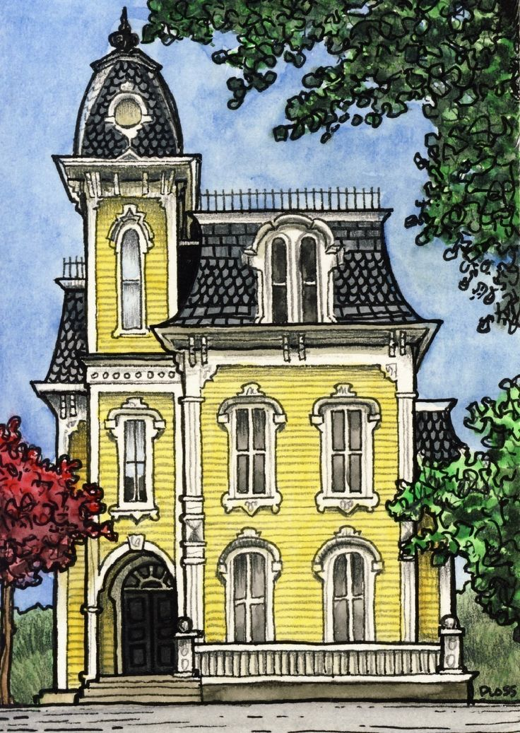 17 Best Ideas About House Illustration On Pinterest