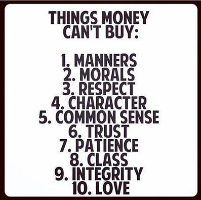 and you can't expect it from cheap people - especially if they are the 'sole' role model